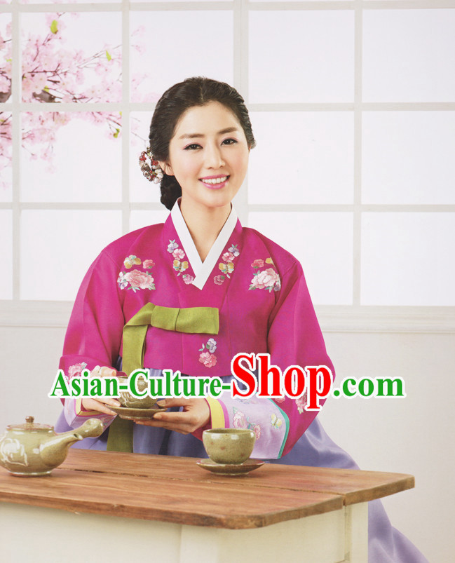 Korean Traditional Womens Brides Wedding Dresses Suits