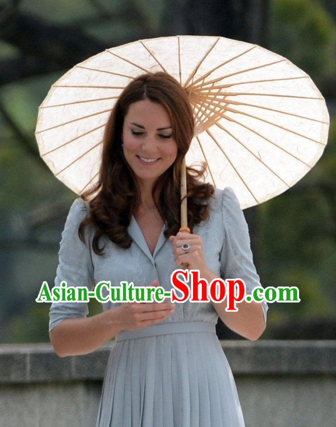Top Chinese Traditional Handmade Pure White Umbrella