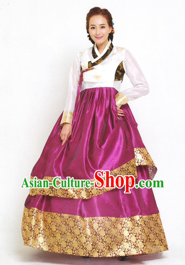 Korean Traditional Dress Clothing Complete Set for Ladies