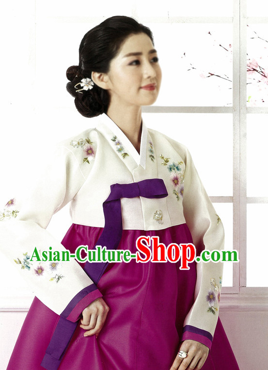 Korean Mother National Costumes Complete Set for Women