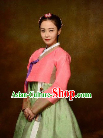 Korean Ancient Female Costumes Complete Set
