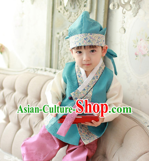 Korean Traditional Birthady Dress Hanbok Clothing for Boys