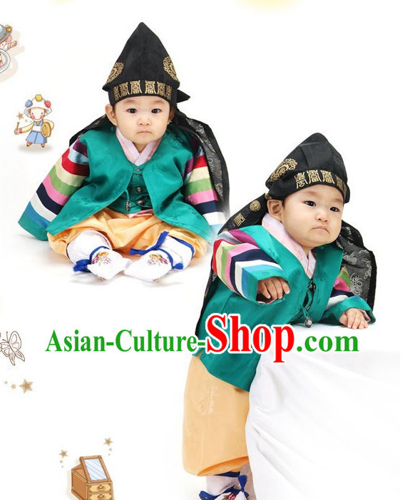 Korean Birthady Dress Hanbok Clothing for Boys