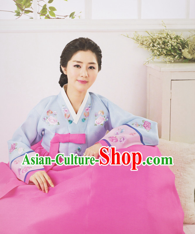 Korean Female Traditional Dresses Hanbok Suits Complete Set