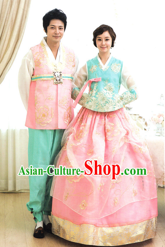 Korean Female and Male National Costumes Complete Sets