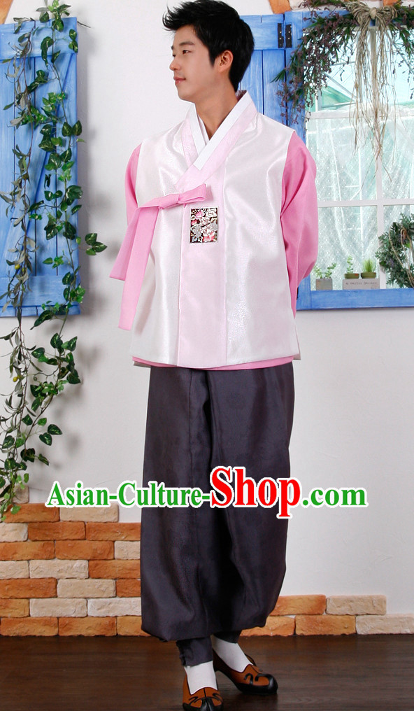 Korean Male Bridal National Costumes Complete Set