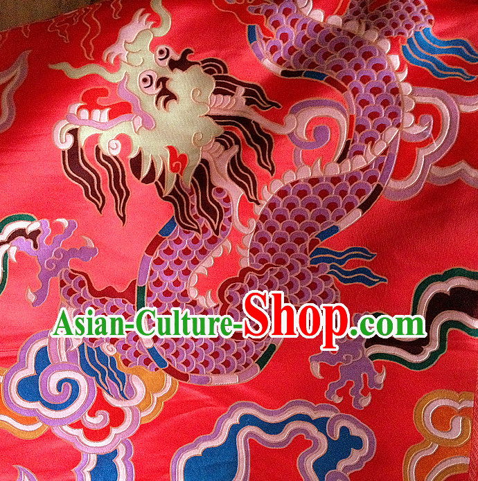 Asian China Traditional Tibetan Dragon Brocade Dress Material