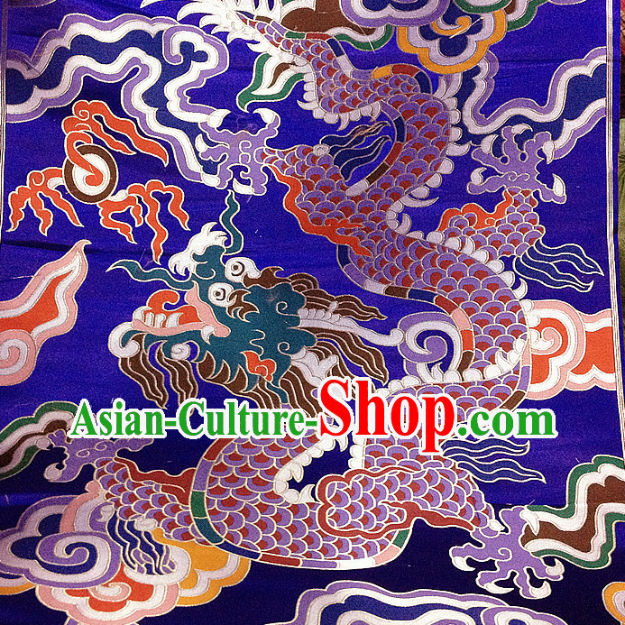 Asian China Traditional Tibetan Dragon Brocade Sewing Material