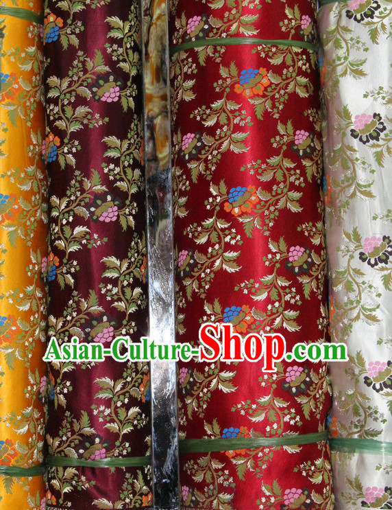 Asian China Traditional Tibetan Brocade Dress Material