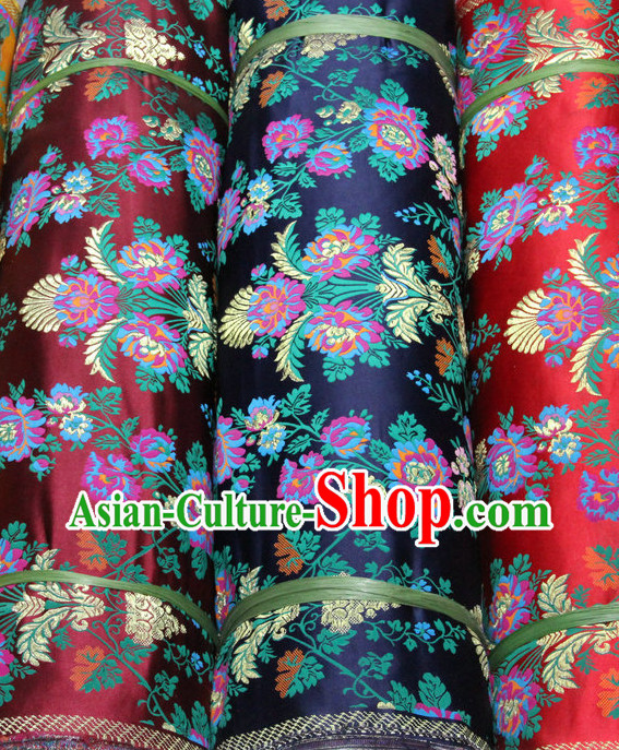 Asian China Traditional Tibetan Style Brocade Dress Material