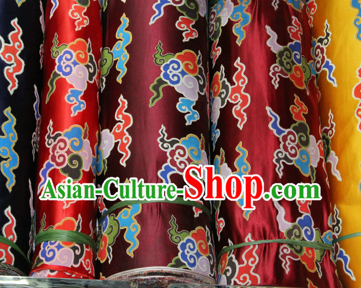 China Tibetan Brocade Embroidered Fabric Sewing Material