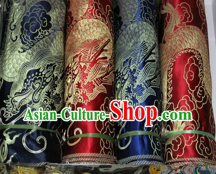 Chinese Tibetan Brocades Embroidered Fabric Sewing Material