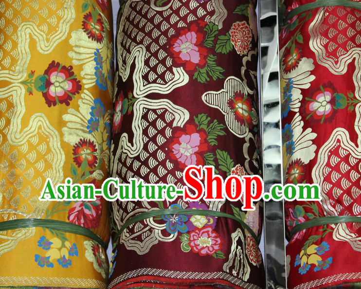Asia Tibetan Brocades Embroidered Fabric Sewing Material