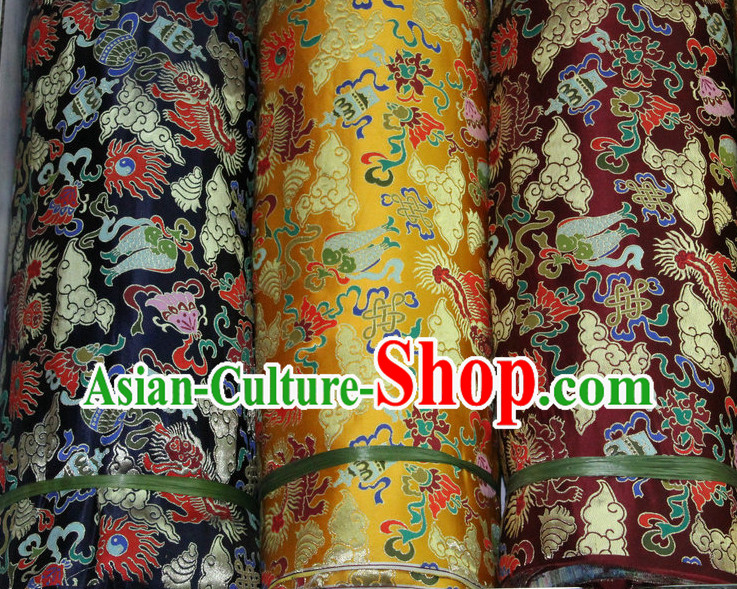 Asian Tibetan Brocades Embroidered Fabric Sewing Material