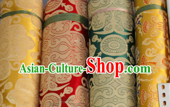 Asian Tibetan Brocade Embroidered Fabric Upholstery Material Dress Material