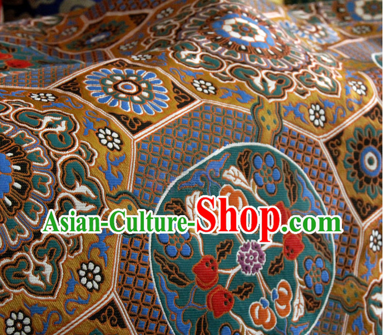Chinese Tibetan Brocade Embroidered Fabric Upholstery Material Dress Material
