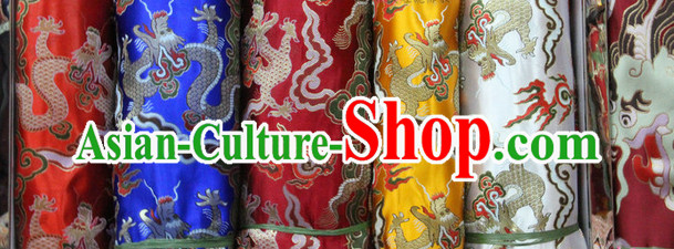 Asian Tibetan Brocade Upholstery Material Embroidered Fabric Dress Material