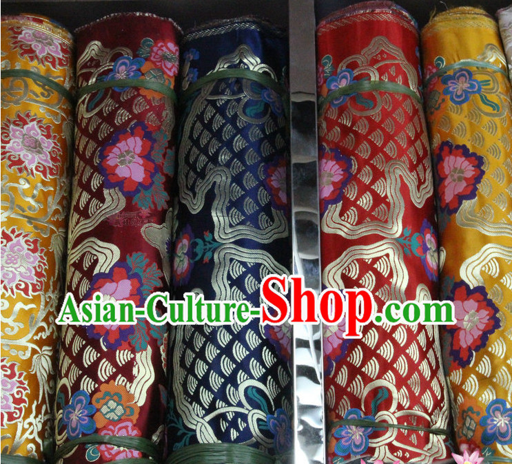 Asian Upholstery Brocade Material Embroidered Fabric Dress Material