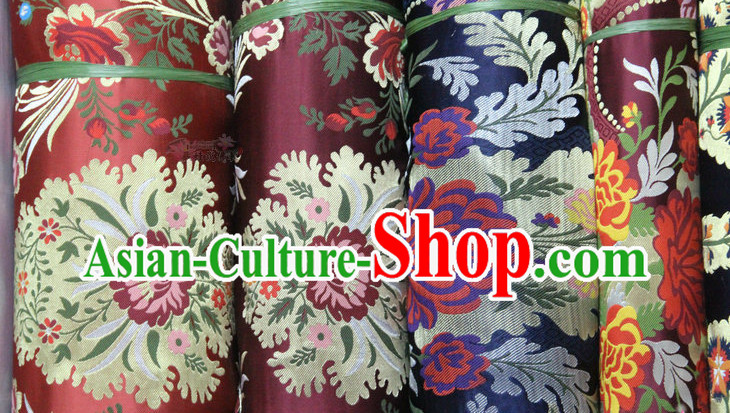 Chinese Brocade Upholstery Embroidered Fabric Dress Materials