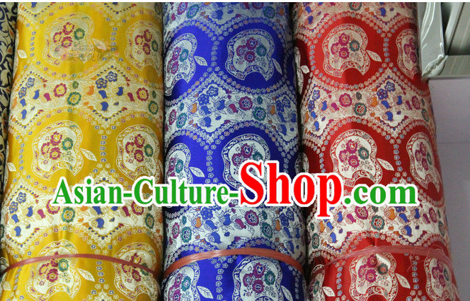 Chinese Traditional Brocade Upholstery Embroidered Fabric Dress Materials