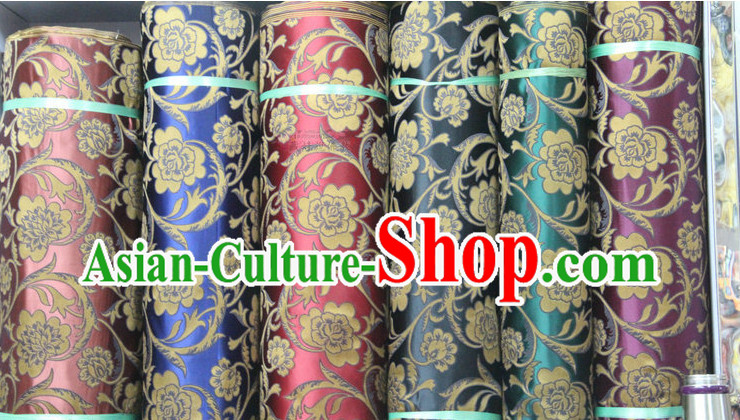 Chinese Traditional Brocade Upholstery Embroidered Fabric Dress Material