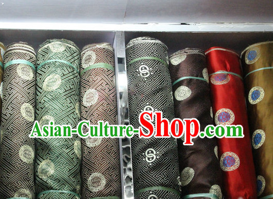 Chinese Traditional Silk Brocade Embroidered Fabric Dress Material