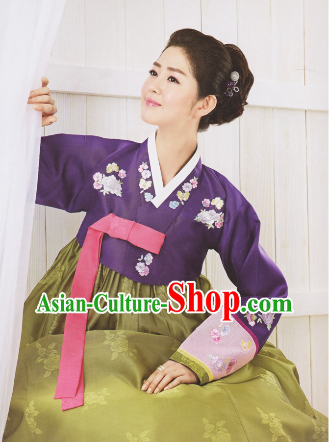 Korean Classical Hanbok Clothes Complete Set for Ladies