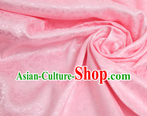 Chinese Traditional Pink Dragon Brocade Fabric