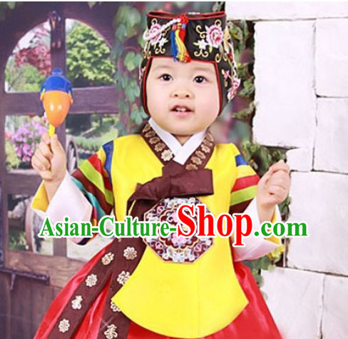 Korean Traditional Clothing Plus Size Clothing Fashion Clothes Complete Set for Kids
