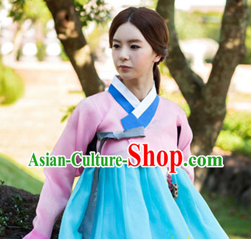 Korean Traditional Clothing Plus Size Dress Fashion Clothes Complete Set for Ladies