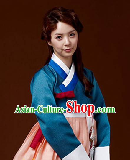 Korean Traditional Clothing Ladies Plus Size Dress Fashion Clothes Complete Set