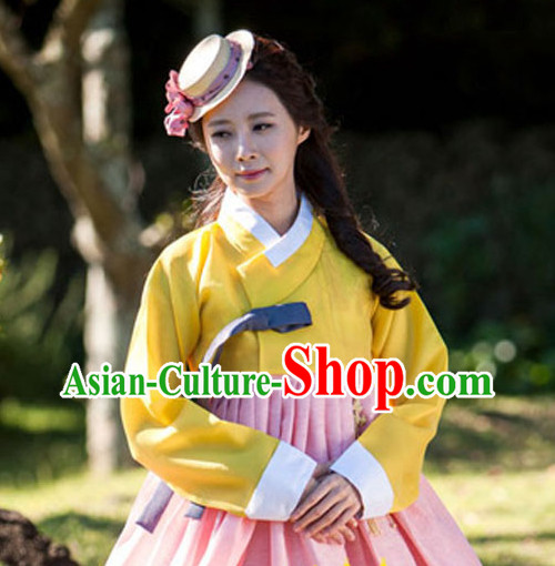 Korean Traditional Clothing Plus Size Dress Fashion Clothes Complete Set for Women