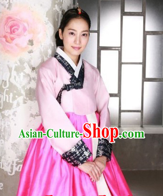 Korean Traditional Clothing Imperial Female Plus Size Dress Fashion Clothes Complete Set