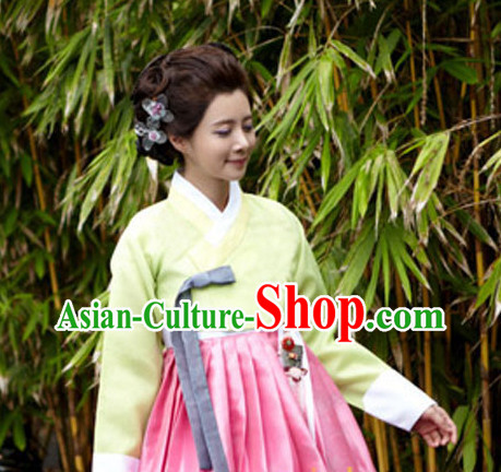 Korean Traditional Dress Lady Plus Size Dancing Clothing Complete Set