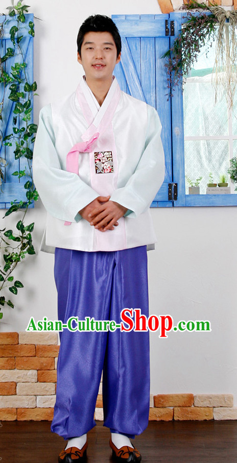 Traditional Korean Male National Uniforms Complete Set