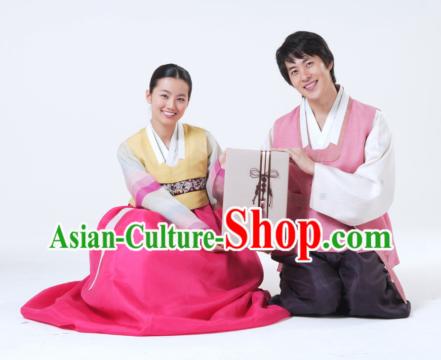 Korean National Dress Costumes Traditional Costumes for Husband and Wife