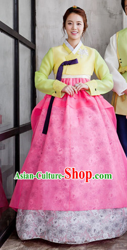 Korean Girls National Costumes Traditional Costumes Hanbok Korea