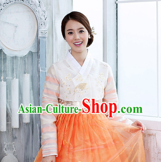 Korean Female National Costumes Traditional Costumes Hanbok Korea