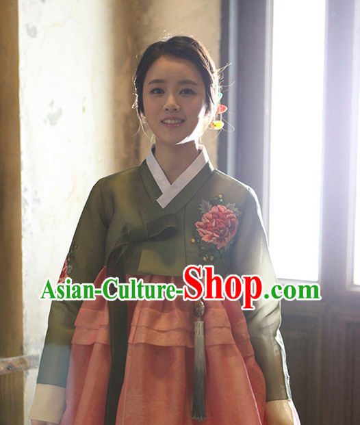 Korean Female National Costumes Traditional Costumes Hanbok Dress
