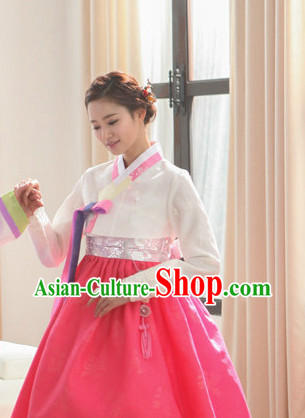 Korean Beauty National Costumes Traditional Costumes Hanbok Dresses
