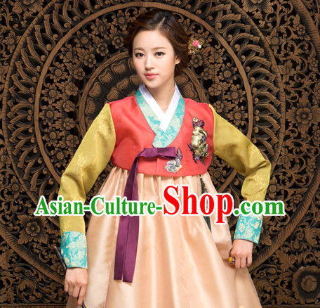Korean National Costumes Traditional Costumes Hanbok Dresses