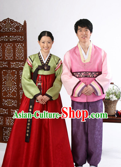 Korean Husband and Wife National Costumes Traditional Costumes Hanbok Korea Dress online Shopping