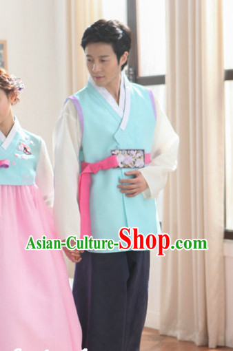 Korean Bridegroom Plus Size Clothing Fashion Clothes Dance Attire Dance Gear Hanbok