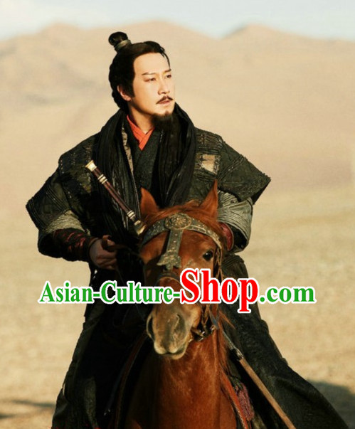 Chinese Ancient Han Emperor Liu Bang Costumes Complete Set
