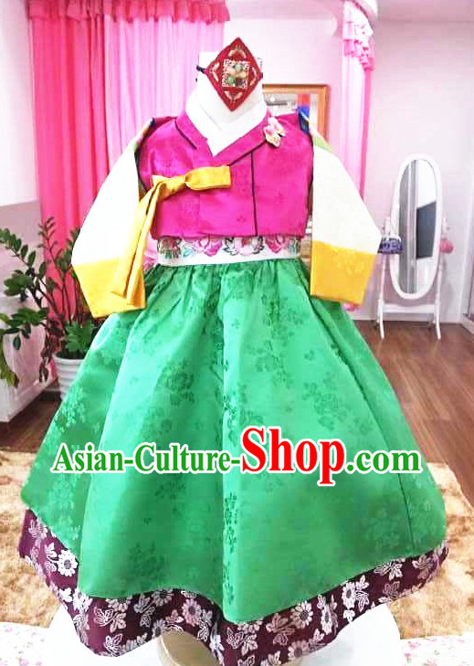 Korean Traditional Ceremonial Outfit Complete Set for Girls