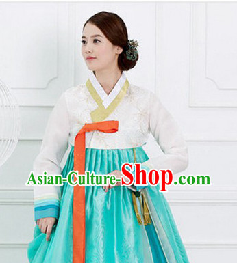 Traditional Korean Fashion Style Female Dress Complete Sets