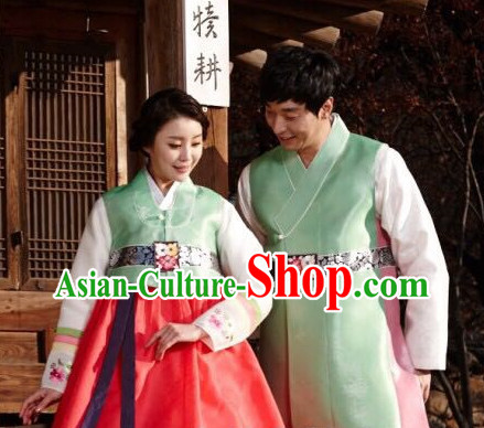 Korean Couple Traditional Dresses 2 Sets