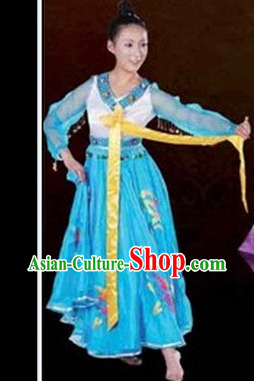 Chinese Chaoxian Costumes Female Ethnic Groups Outfits