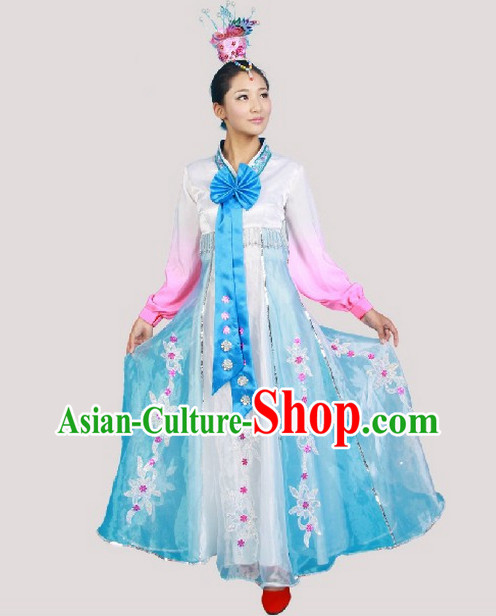 Chinese Costumes Chaoxian Ethnic Dance Costume Complete Set for Women