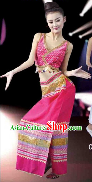 Chinese Costumes Dai Ethnic Groups Clothing